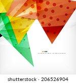 modern 3d glossy overlapping...   Shutterstock .eps vector #206526904