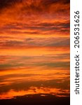 fiery sky after sunset over the ... | Shutterstock . vector #206531626