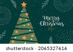 merry christmas happy new year... | Shutterstock .eps vector #2065327616