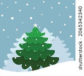 christmas tree. merry christmas ... | Shutterstock .eps vector #2065342340