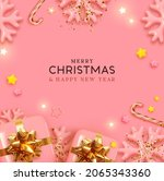 merry christmas and happy new... | Shutterstock .eps vector #2065343360
