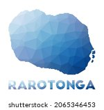 low poly map of rarotonga.... | Shutterstock .eps vector #2065346453