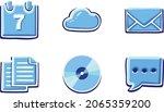 symbol icon vector cyan blue... | Shutterstock .eps vector #2065359200