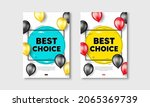 best choice text. flyer posters ... | Shutterstock .eps vector #2065369739