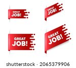 great job text. red ribbon tag... | Shutterstock .eps vector #2065379906