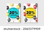 20 percent discount. flyer... | Shutterstock .eps vector #2065379909