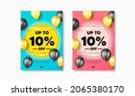 up to 10 percent off sale.... | Shutterstock .eps vector #2065380170