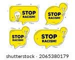stop racism message. idea... | Shutterstock .eps vector #2065380179