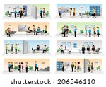 business people set   isolated... | Shutterstock .eps vector #206546110