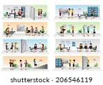 business people set   isolated... | Shutterstock .eps vector #206546119