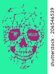 abstract  gothic sacral skull... | Shutterstock . vector #206546539