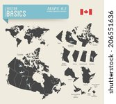 vector basics  worldmap and... | Shutterstock .eps vector #206551636