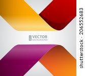 moebius origami colorful paper... | Shutterstock .eps vector #206552683