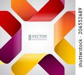 moebius origami colorful paper... | Shutterstock .eps vector #206552689