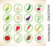 vector icons collection of... | Shutterstock .eps vector #206552944