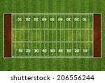 american football field with... | Shutterstock . vector #206556244