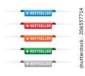 bestseller paper tag labels | Shutterstock .eps vector #206557714