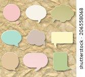 pastel speech bubble set ... | Shutterstock .eps vector #206558068