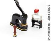 notary public embosser  stamp ... | Shutterstock . vector #206565073