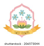 flowers design over white... | Shutterstock .eps vector #206573044