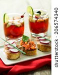 Bruschetta And Red Sangria