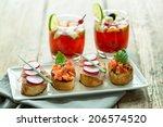 Fresh Bruschetta And Sangria O...