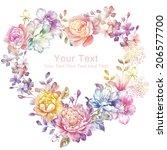 watercolor floral illustration...   Shutterstock . vector #206577700