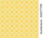 traditional quatrefoil lattice... | Shutterstock . vector #206577790