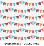 garland seamless pattern | Shutterstock .eps vector #206577958