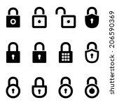 icons padlocks. vector set. eps8 | Shutterstock .eps vector #206590369