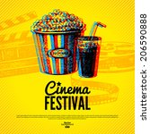 movie cinema festival poster.... | Shutterstock .eps vector #206590888