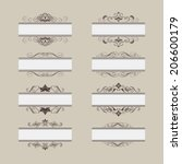 set of vintage vector frame... | Shutterstock .eps vector #206600179