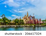 singapore   june 25  tourists... | Shutterstock . vector #206617324