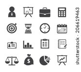 business icon | Shutterstock .eps vector #206619463