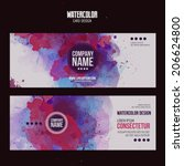 vector template cards with... | Shutterstock .eps vector #206624800