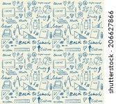 school theme seamless background | Shutterstock .eps vector #206627866