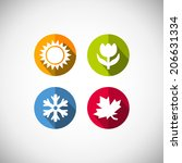 four seasons icon symbol vector ... | Shutterstock .eps vector #206631334