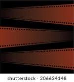 filmstrip  vector | Shutterstock .eps vector #206634148