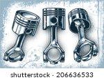 pistons | Shutterstock .eps vector #206636533