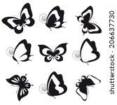 butterflies design | Shutterstock .eps vector #206637730