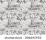 doodle business seamless | Shutterstock .eps vector #206641933