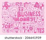 doodle business background | Shutterstock .eps vector #206641939