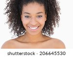 pretty girl with afro hairstyle ... | Shutterstock . vector #206645530