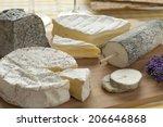 french cheese platter as dessert | Shutterstock . vector #206646868