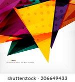 modern 3d glossy overlapping... | Shutterstock . vector #206649433