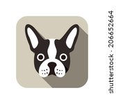 animal,art,boston,bulldog,cartoon,character,comic,cute,design,dog,elements,face,flat,frame,fun