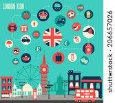 London Icon Set. Vector...