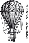 vintage air balloon drawn as... | Shutterstock .eps vector #206658343