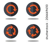 flat isolated icons set arrows...
