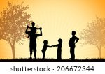 family together | Shutterstock .eps vector #206672344